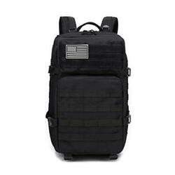 WATER BEAR TACTICAL Military Backpack for Camping Hunting Trekking Black Size $20.00