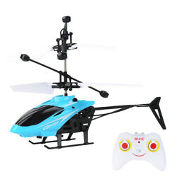 Blue RC Helicopter Toys Mini Infrared Induction Drone With LED Night Lights ESE $11.81
