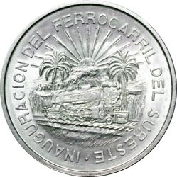 MEXICO 5 PESOS 1950 SOUTH EAST RAILWAY 1 YEAR TYPE CHOICE UNCIRCULATED $104.99