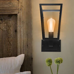 Vintage Wall Light Outdoor Lantern Lamp Glass Lamp Industrial Porch Yard $33.30