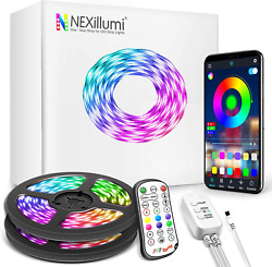 75 ft LED Lights for Bedroom Nexillumi LED Strip Lights with Remote and Music $26.40