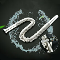 Kitchen Home Sink Drain Hose Stainless Steel Siphon Flexible Sink Waste Tube $14.89