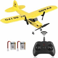 RC Plane Remote Control 2.4GHz 2 Channel RC Airplane Built in 6Axis Gyro for Kid $28.29