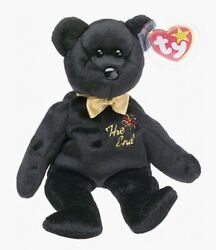 The End Black Bear TY Beanie Baby Retired Rare Mint Condition Tags MWMT $6.49