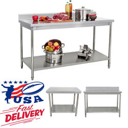 Kitchen Stainless Steel Commercial Catering Table Work Bench Food Prep Worktop $275.99