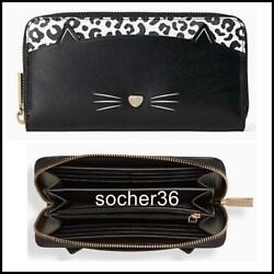 KATE SPADE MEOW CAT LARGE CONTINENTAL WALLET WLR00593 NWT $239 $144.44