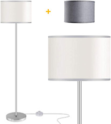 Floor Lamps for Living Room with 2 Lamp Shades LED Modern Standing Lamp Simple $48.10