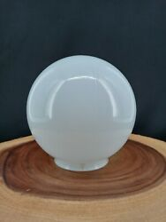 """Vintage SHADE Globe White ROUND BALL GLASS 6"""" Replacement $34.95"""