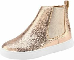 DREAM PAIRS Boys Girls High Top Sneakers Shoes Gold Size 3.0 Bn8x $9.99