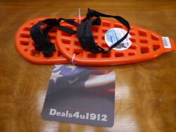 Emsco Snow Dogs Snowshoes Orange plastic ESP 16 x 8 inches Brand New With Tags $32.99
