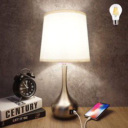 Touch Table Bedroom Lamp with 3 Way Dimmable Bedside Lamp with Dual USB Ports $41.87