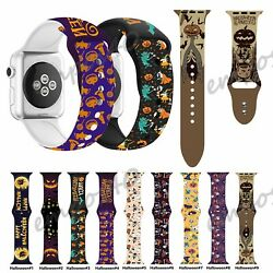 Halloween Silicone Band Strap For Apple Watch Series 6 SE 5 4 3 40 44mm 38 42mm $9.99
