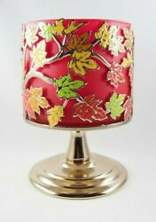 1 Bath amp; Body Works Bronze Autumn Fall Leaves Pedestal 3 Wick Candle Holder $17.95