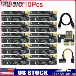 VER009S Plus PCIe Riser Card USB 3.0 Cable PCI E Express 1x to 16x Extender lots $12.82