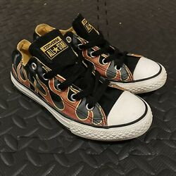 CONVERSE All Star Boys Sneaker Flame Shoes Kids Youth Size 2 $15.00