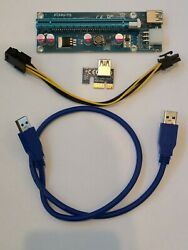 PCI E Riser for Bitcoin Litecoin ETH Coin Mining 6 PIN Powered Extension Cable $7.50