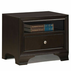 Vintage Nightstand Solid Wood Sofa Side End Table W USB Port amp; Drawer Brown $109.98