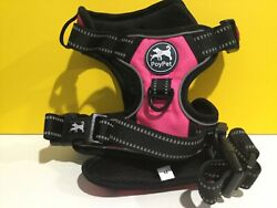 Poypet Harness No Pull Adjustable For Dog Pink With Black Medium $18.00