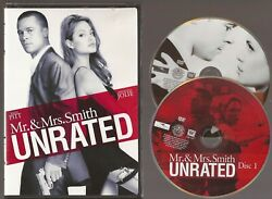 Mr. and Mrs. Smith DVD 2 Disc Set Unrated Edition Disc amp; Cover Art Only $4.99