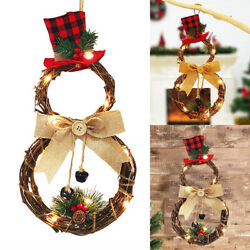 Christmas Wreath Door Wall Hanging Garland Ornament Home Holiday Decoration $14.98