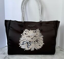 Kate Spade Everything Puffy Cat Large Nylon Tote $386.00