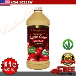 Piping Rock Organic APPLE CIDER VINEGAR with Mother Weight Loss Supplement 16 oz $12.21