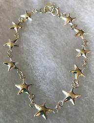 Star Ankle Bracelet Silver New 7 1 2 Inch Gift Bagged $6.95