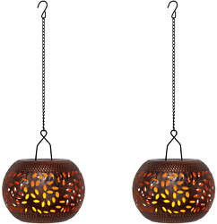 Hanging Lanterns Decorative Metal Candle Lanterns for Home Decoration Copper and $40.30