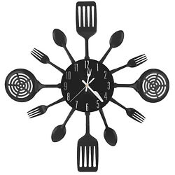 16 Inch Large Kitchen Wall Clocks with Spoons and ForksGreat Home Decor $15.99