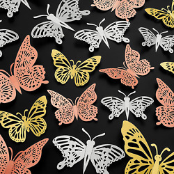 72Pcs 3D Butterfly Wall Decor Wall DecorationsRemovable Butterfly Wall DecalsB $17.99