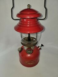 VTG COLEMAN 200A SINGLE MANTLE CHERRY RED LANTERN DATED 11 54 NOT TESTED $169.00