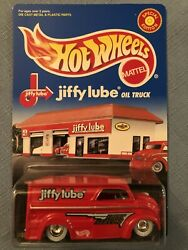 1998 Hot Wheels Jiffy Lube Red Oil TRuck with White Wall Real riders $15.00