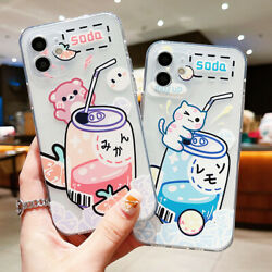 Clear Cartoon Silicone Soft Case Cover Cute For iPhone 13 Pro Max 12 11 XS XR 8 $3.95
