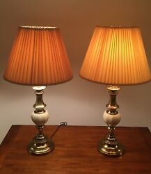 Stiffel Table Lamps Brass Excellent Condition PAIR $80.00