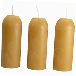 Candle Lantern 3.5 Inch Candles 12 Hour Beeswax 3 Pack $20.01