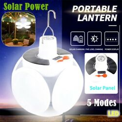 USB Rechargeable Solar LED Camping Light Lantern Hiking Tent Lamp Outdoor $14.80