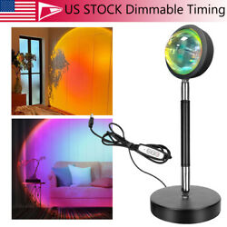 USB Desk LED Sunset Timing Dimmable Projector Atmosphere Home Night Light Lamp $25.80