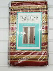 New Traditions By Waverly Curtain Panel Stripe ensemble 52quot; X 48quot; Crimson $26.89