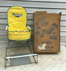 Vintage WELSH PLAYMATE Baby Bouncer Jumper Seat Mid Century in Box $250.00