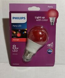 Philips Red Party Colored LED Disco Festival Wall Dance Stage Light Bulb $8.95