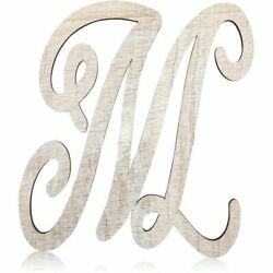 Rustic Wood Monogram Alphabet Letter M for Crafts Rustic Home Decor 13 in $9.99