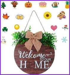 Farmhouse Decor Welcome Sign For Front Porch Door Home Rustic Decorations Hangin $15.93