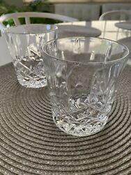 WATERFORD Crystal Marquis Markham Double Old Fashioned Glasses set of 2 $21.99
