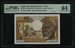 P 3a Equatorial Africa States Chad 100 Francs 1963 UNC PMG 64 $650.00