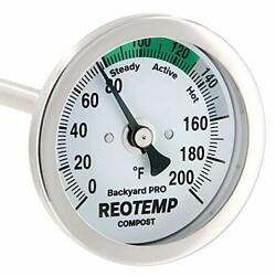 REOTEMP Backyard Pro Compost Thermometer 24 Inch Stemwith PDF Composting Guide $77.68