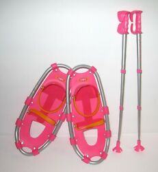 American Girl Pink Snowshoes amp; Poles $24.99