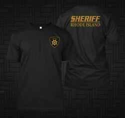 Sheriff Rhode Island Police United State custom front and back t shirt tee $22.99