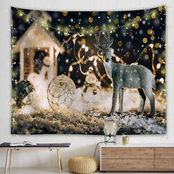 Christmas Tree Snow Flakes Tapestry Wall Hanging for Living Room Bedroom Dorm $13.99