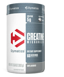 DYMATIZE MICRONIZED MONOHYDRATE CREATINE 60 SERVINGS UNFLAVORED 300 Grams $26.79