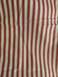 Waverly quot;Tavern Tickingquot; Drapery Upholstery Fabric Cotton 57quot; x 54quot; Red Extra $23.99